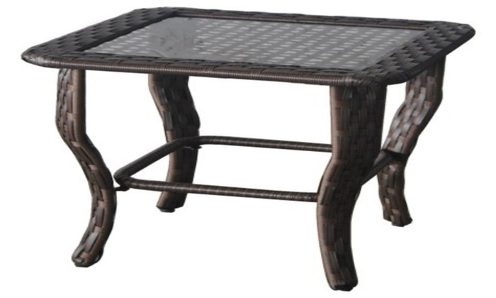 67f910d0b1da Better Homes and Gardens Colebrook Glass Top Side Table | Groupon