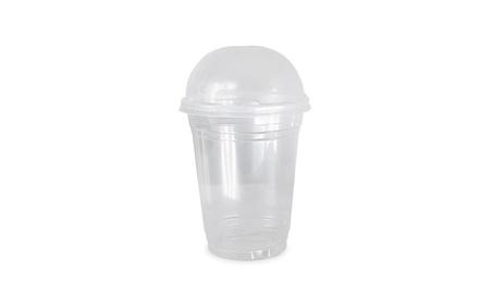 Disposable Clear Plastic Cups, 16 oz - 100 Sets with Dome Lids fe5c5c31-c406-464d-9a0c-083fe62970a9