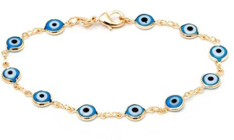 Crystal Evil Eye Bracelet or Anklet