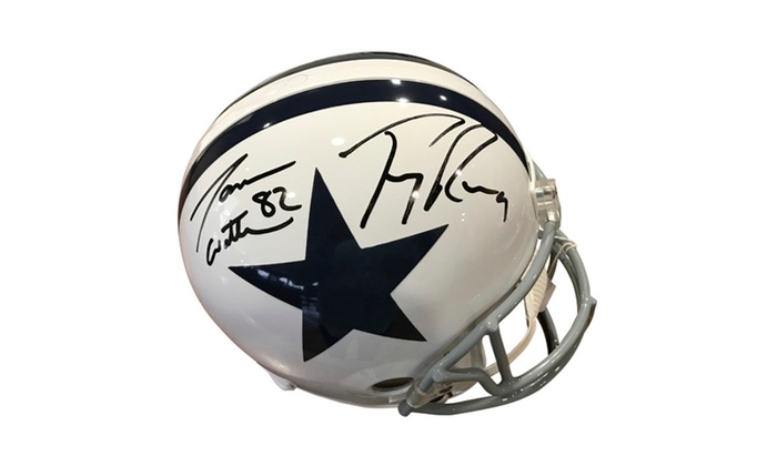 the best attitude 8c951 3a145 Autographed Jason Witten/ Tony Romo Dallas Cowboys Full Size Helmet