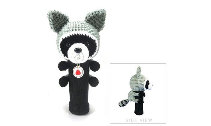 Stitchhead Hand Stitched Yarn Animal Driver/wood Head Cover - Raccoon