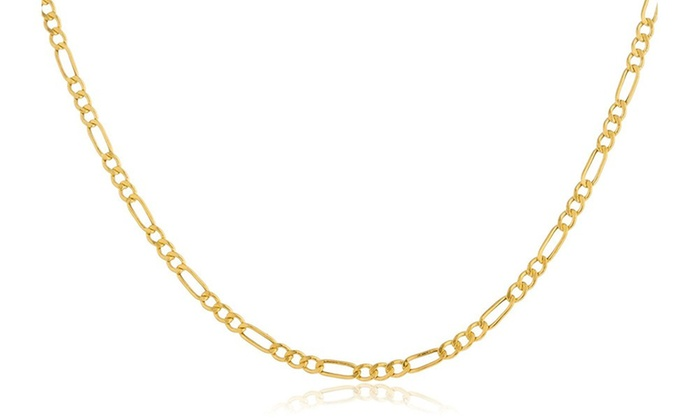 Italian Gold Chain >> 14k Gold 2mm Italian Figaro Chain Necklace By Moricci Groupon