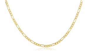 14K Gold 2mm Italian Figaro Chain Necklace by Moricci