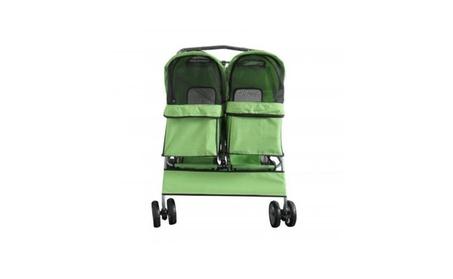 New DS0003 Green Folding Heavy Duty Side BySide Double Pet Stroller ee95d07a-8c2e-4c08-acde-fd2ce0a7beae