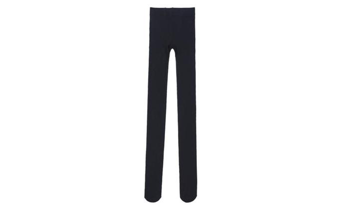 Women's Mid Rise Long Slim Fit Simple Casual Leggings - Black / One Size
