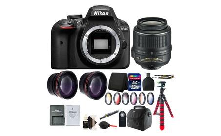Nikon D3400 24.2 MP Digital SLR Camera + 18-55mm Lens BUNDLE 791e62b1-b00e-4a8b-832f-6b114997c021