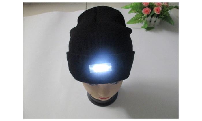 Winter Warm hat 5 LED Knitted Beanie Hat    Free flashlight