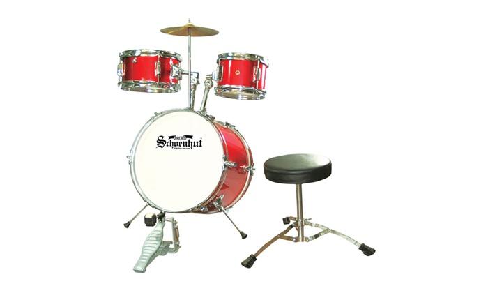 Up To 16 Off On Schoenhut 5 Piece Drum Set Red Groupon Goods