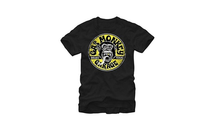 Gas Monkey Garage Logo Equipped Vintage Style Adult T-shirt