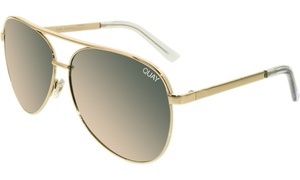 c3e20d3c9 Quay Women's Mirrored Vivienne QC-000098-GOLD/ROSE Gold Aviator Sunglasses