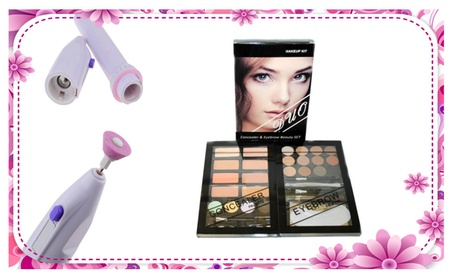 Concealer & Eyebrow Duo Makeup Kit With 7 in 1 Electric Nail Grinder d1878694-684d-4b32-9fe4-75ed6d9de504