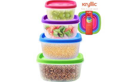 Plastic Food Storage Containers Lids set of 4