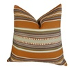Plutus Chic Stripe Saffron Handmade Throw Pillow