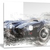 Black Roadster Convertible Metal Wall Art 28x12
