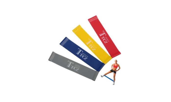Exercise Yoga Bands 4pcs Pilates Band Resistance Loop Band  Rubber