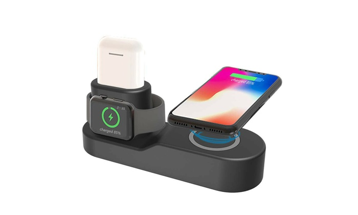 Up To 61% Off on 4in1 Qi Wireless Charger Fast    | Groupon