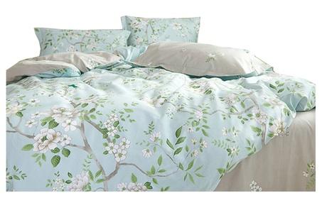 Riho 100% Pima Cotton Floral Rural Bedding Sets(3-Piece or 4-Piece) e31f1419-159f-42da-9c2c-53288cb4b4dd