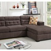 Molfetta Sectional Sofa Upholstered in Chenille Fabric