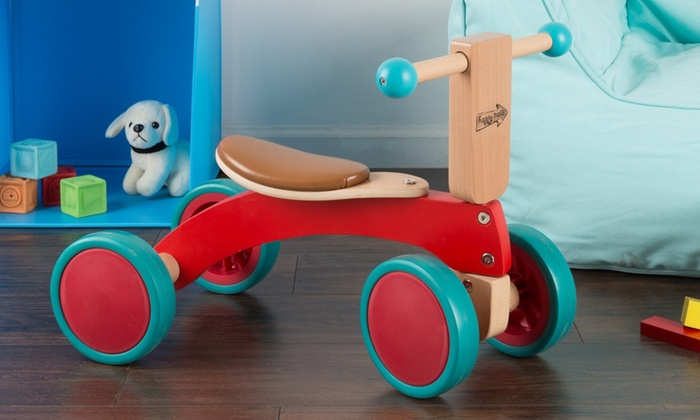 Happy Trails Walk And Ride Wooden Balance Bike For Toddlers Groupon
