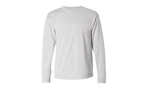 Hanes ComfortSoft Long Sleeve Crewneck T-Shirt, 5586