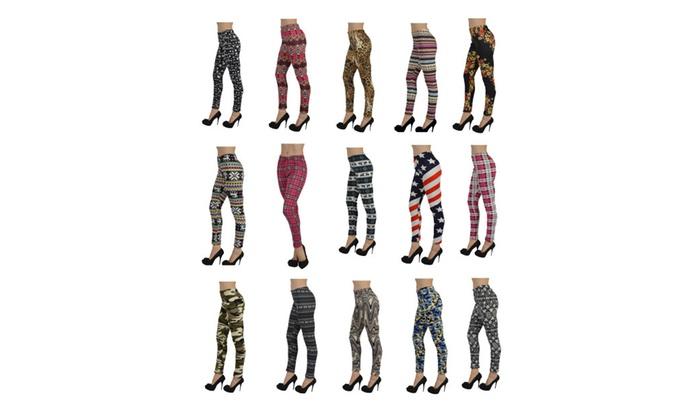 Docele Women's Fur Lined One Size Leggings 1400