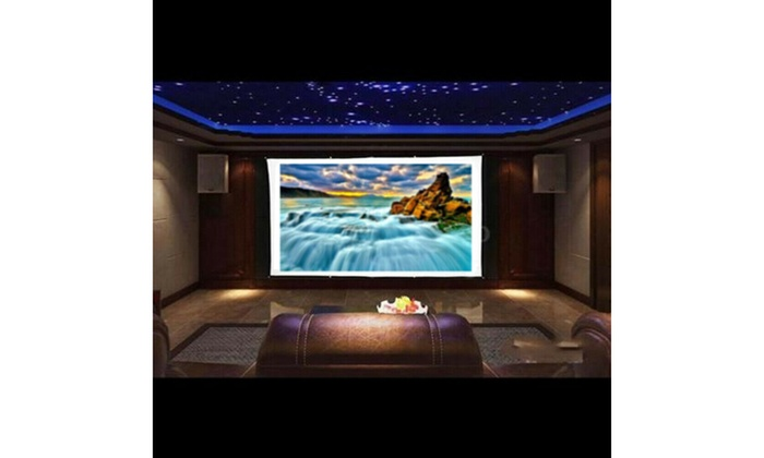 100inch Portable Foldable Projector Screen 16:9 HD Home Theater Outdoor 3D Movie