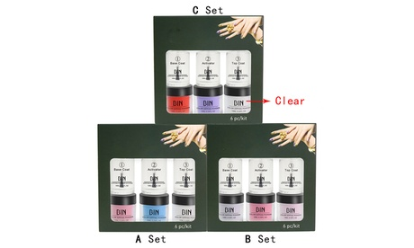 Nails Dip Powder Set Acrylic Liquid Dipping System Without Lamp Cure Natural Dry