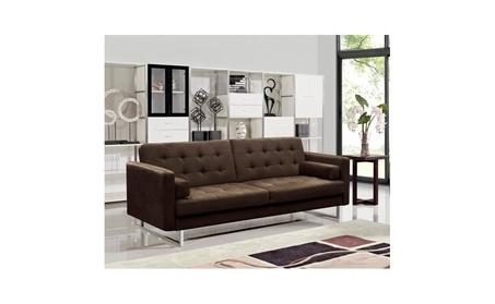 Claire Fabric Modern Sofa Bed - BROWN 2d87b469-18b5-4672-becb-209c9c9eeda3