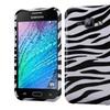 Insten Zebra Hard Cover Case For Samsung Galaxy J1 Black White