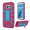 Insten For Samsung Galaxy S7 Hot Pink Blue Skin Hard Hybrid Case Stand
