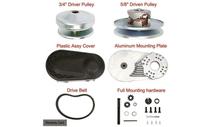 "Go Kart Torque Converter Kit Clutch 3//4/"" 30 Series for ATV Karting Iron/&Aluminum"