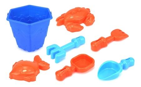 Sea Creatures Bucket Children's Toy Beach Sandbox Sand Playset (Blue) f33c6eab-dbf4-45fe-9cde-4ebbf028d9dd