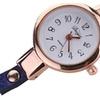 Quartz Eye Gemstone Gold Bracelet Watch for Women