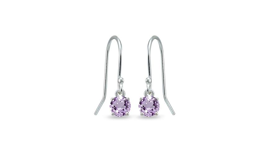 Amethyst and silver 925 dangle earrings