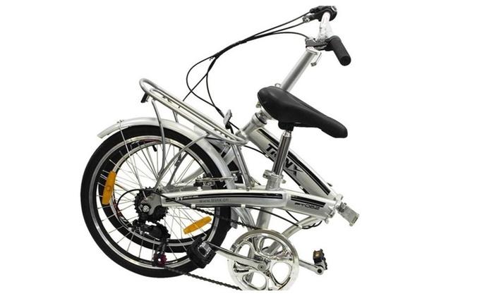Folding Bike 20 Shimano 6 Speed Bike Fold Storage Silver Groupon