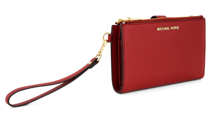 2a60b5f775e7a Michael Kors Adele Double Zip Phone Wristlet - Burnt Red
