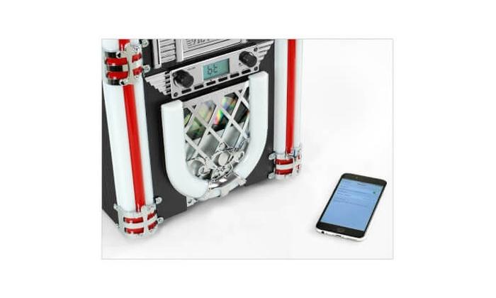 Victrola Retro Desktop Bluetooth Jukebox with CD Player FM