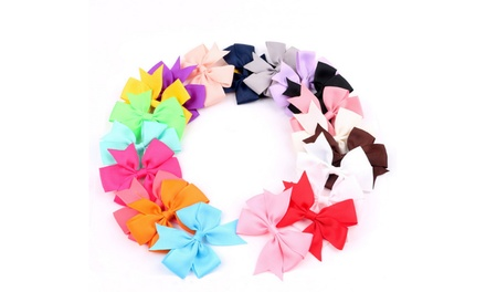 20 Pieces Baby Girl Christmas Hair Bows Clips ForGirls Babies Toddlers
