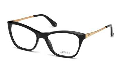 fea389e6fe Shop Groupon Guess Eyeglasses GU2604-005 54 Black Frame   Clear Lenses