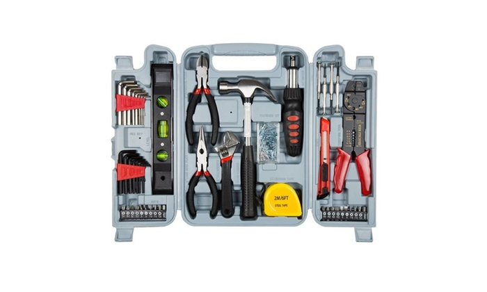 Household Hand Tools, 130 Piece Tool Set, Set Includes