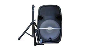 One Audio Bluetooth Karaoke Party DJ Speaker w/ Wireless Mic & Tripod
