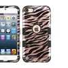 Insten Zebra Hard Silicone Case For Ipod Touch 5 6 Rose Gold Black