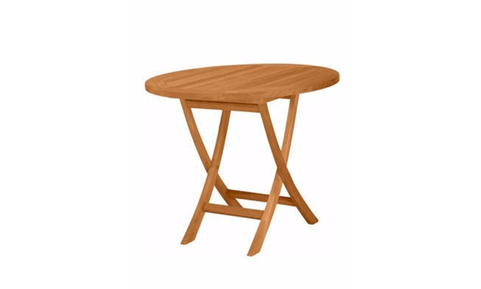 Anderson Teak Bahama Round Bistro Folding Table Groupon - Anderson round table