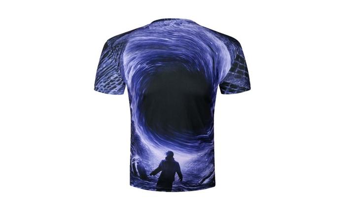 Unisex Funky Digital Print T-shirt 3D Graphic Short Sleeve Tees