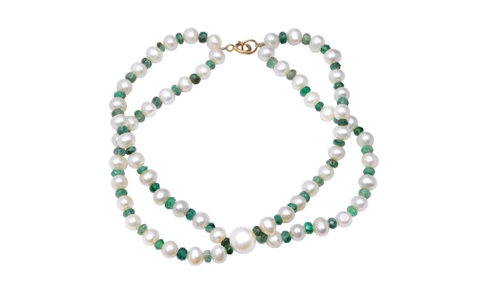 turquoise 14K gold beads bracelet black diamond cut silver bead ruby emerald