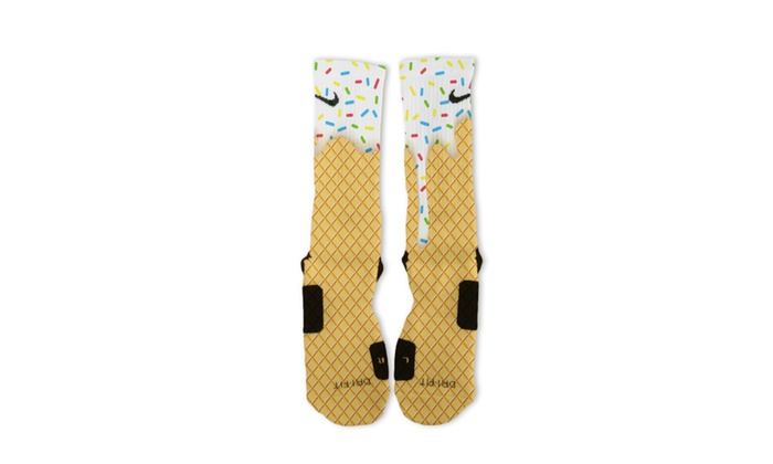 Custom Dripping Ice Cream Nike Elite Socks