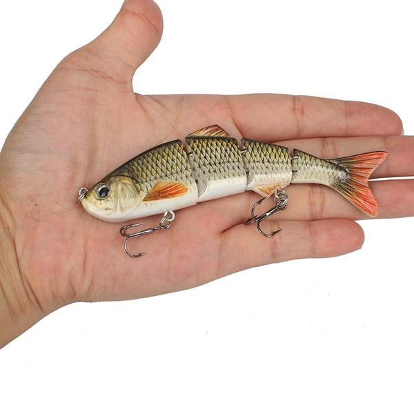 "4/"" Walleye Bass Northern Muskie Jointed Lifelike 3D Eyes Crank Bait Fishing Lure"