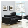 Pomezia Loveseat and Sofa Upholstered in Bonded Leather