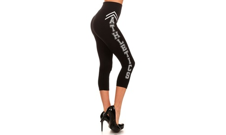 Athletics Print - Athletic Capri Leggings 9c4c587d-4ac2-4537-af90-cf644eeb8f28
