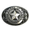 Oval Black-Silver Belt Buckle The State Of Texas